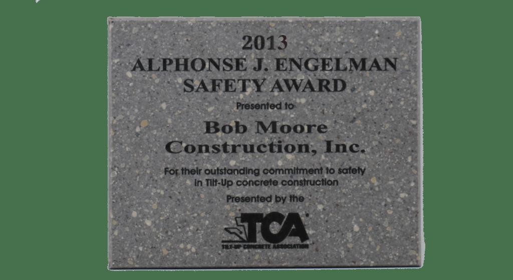 2013 TCA Safety Award