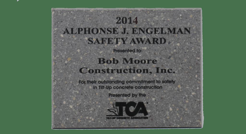 2014 TCA Safety Award