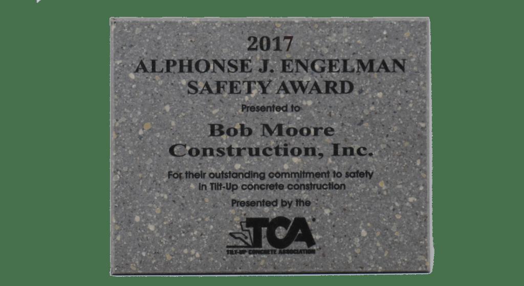 2017 TCA Safety Award