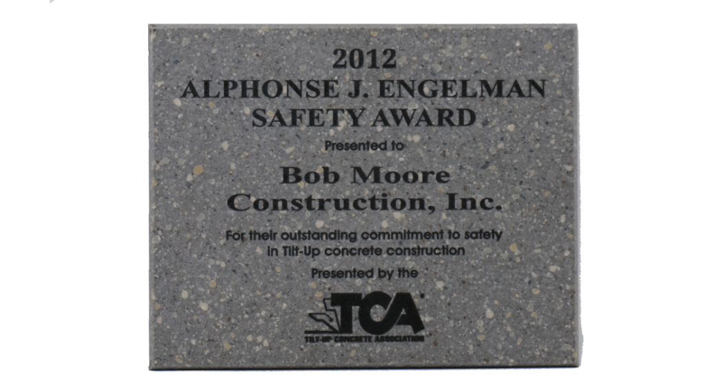 2012 TCA Safety Award